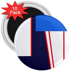 Decorative abstraction 3  Magnets (10 pack)
