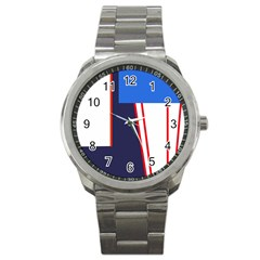 Decorative abstraction Sport Metal Watch