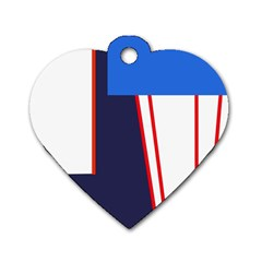 Decorative abstraction Dog Tag Heart (Two Sides)