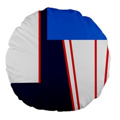 Decorative abstraction Large 18  Premium Round Cushions