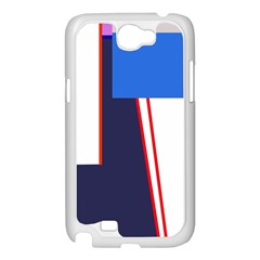 Decorative abstraction Samsung Galaxy Note 2 Case (White)