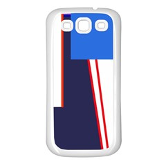 Decorative abstraction Samsung Galaxy S3 Back Case (White)