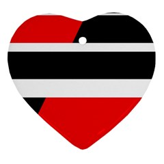 Red, white and black abstraction Ornament (Heart)