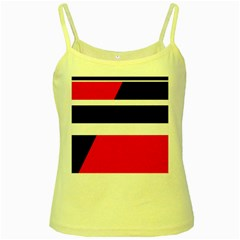 Red, white and black abstraction Yellow Spaghetti Tank