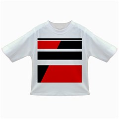 Red, white and black abstraction Infant/Toddler T-Shirts