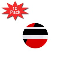 Red, white and black abstraction 1  Mini Magnet (10 pack)