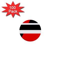 Red, white and black abstraction 1  Mini Buttons (100 pack)