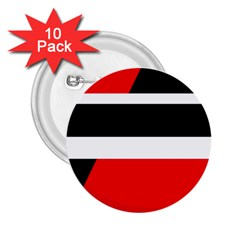 Red, white and black abstraction 2.25  Buttons (10 pack)