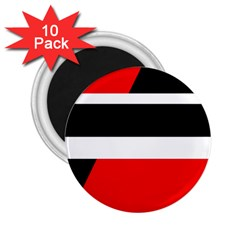 Red, white and black abstraction 2.25  Magnets (10 pack)