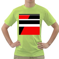 Red, white and black abstraction Green T-Shirt