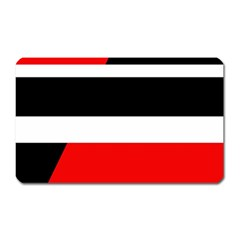 Red, white and black abstraction Magnet (Rectangular)