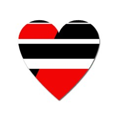 Red, white and black abstraction Heart Magnet