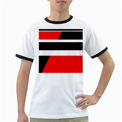 Red, white and black abstraction Ringer T-Shirts