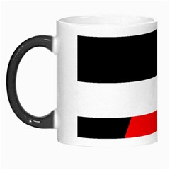 Red, white and black abstraction Morph Mugs