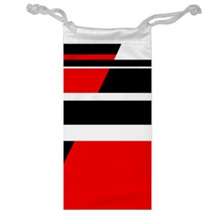 Red, white and black abstraction Jewelry Bags