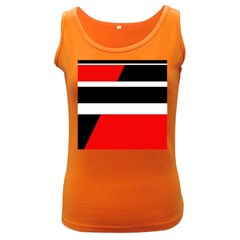 Red, white and black abstraction Women s Dark Tank Top
