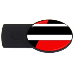 Red, white and black abstraction USB Flash Drive Oval (4 GB)