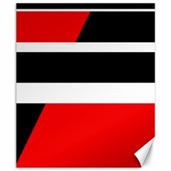 Red, white and black abstraction Canvas 8  x 10
