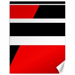 Red, white and black abstraction Canvas 12  x 16