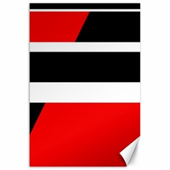 Red, white and black abstraction Canvas 20  x 30