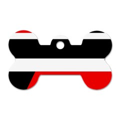 Red, white and black abstraction Dog Tag Bone (Two Sides)