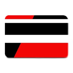 Red, white and black abstraction Plate Mats