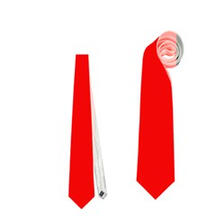 Red, white and black abstraction Neckties (Two Side)