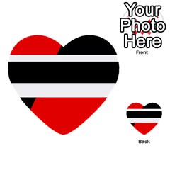 Red, white and black abstraction Multi-purpose Cards (Heart)