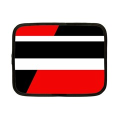 Red, white and black abstraction Netbook Case (Small)