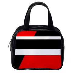 Red, white and black abstraction Classic Handbags (One Side)