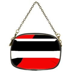 Red, white and black abstraction Chain Purses (One Side)