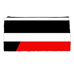 Red, white and black abstraction Pencil Cases