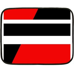 Red, white and black abstraction Double Sided Fleece Blanket (Mini)