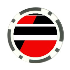 Red, white and black abstraction Poker Chip Card Guards (10 pack)