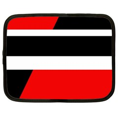 Red, white and black abstraction Netbook Case (XXL)