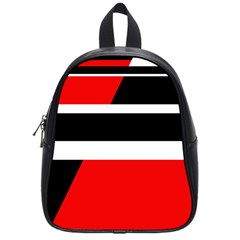 Red, white and black abstraction School Bags (Small)