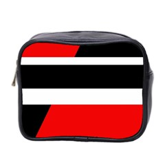 Red, white and black abstraction Mini Toiletries Bag 2-Side
