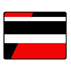 Red, white and black abstraction Fleece Blanket (Small)