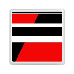 Red, white and black abstraction Memory Card Reader (Square)