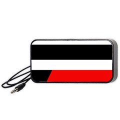 Red, white and black abstraction Portable Speaker (Black)