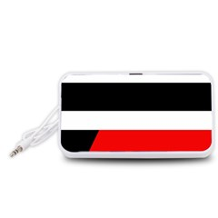 Red, white and black abstraction Portable Speaker (White)