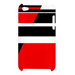 Red, white and black abstraction Apple iPod Touch 4