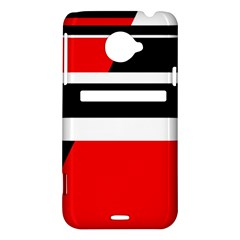 Red, white and black abstraction HTC Evo 4G LTE Hardshell Case