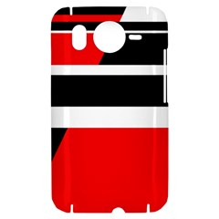 Red, white and black abstraction HTC Desire HD Hardshell Case
