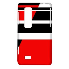 Red, white and black abstraction LG Optimus Thrill 4G P925