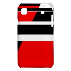 Red, white and black abstraction Samsung Galaxy S i9008 Hardshell Case