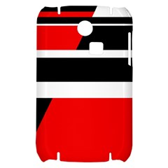 Red, white and black abstraction Samsung S3350 Hardshell Case