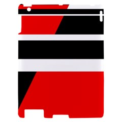Red, white and black abstraction Apple iPad 2 Hardshell Case