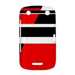 Red, white and black abstraction BlackBerry Curve 9380