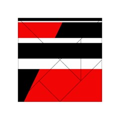 Red, white and black abstraction Acrylic Tangram Puzzle (4  x 4 )